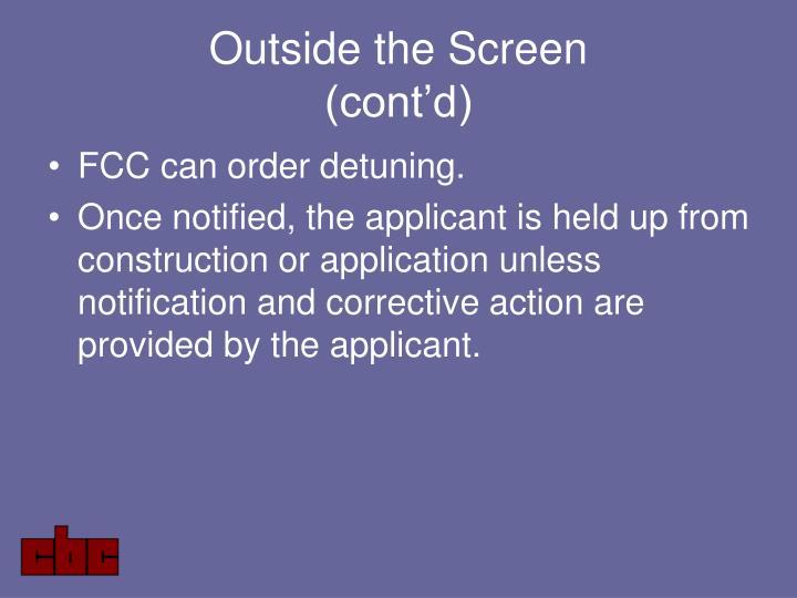 Outside the Screen