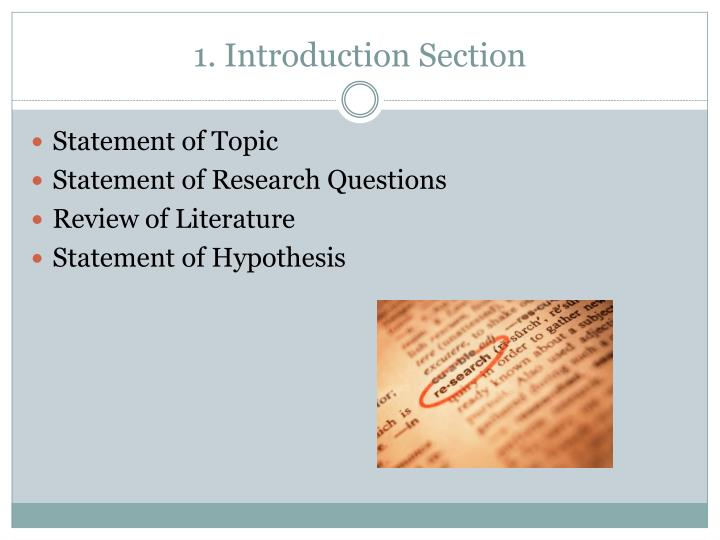 1. Introduction Section
