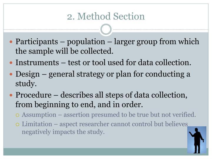 2. Method Section