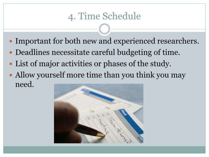 4. Time Schedule