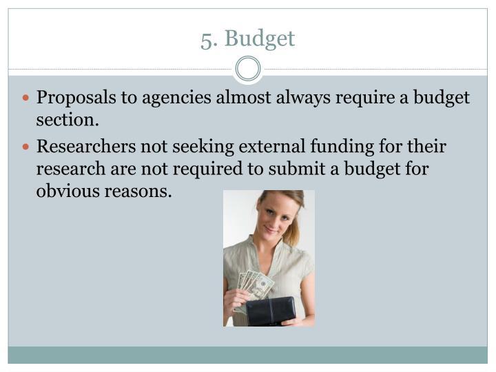 5. Budget
