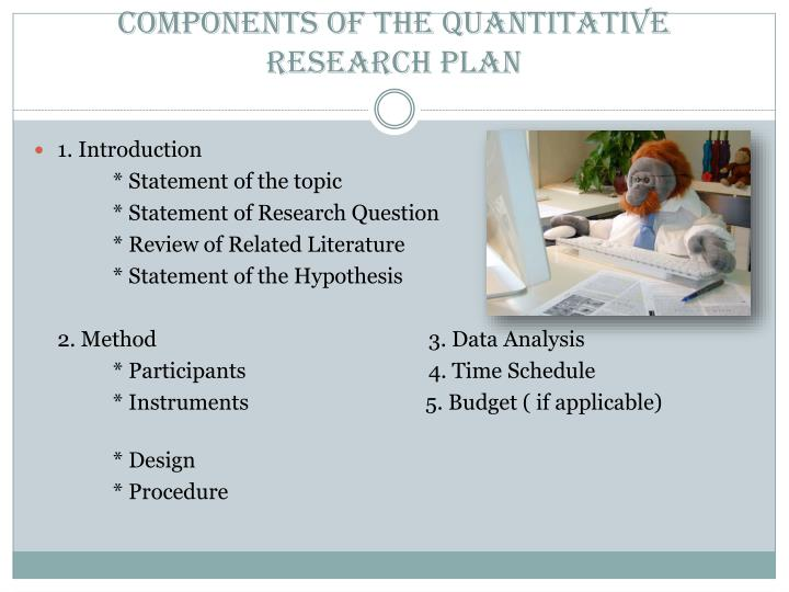 Components of the Quantitative Research Plan