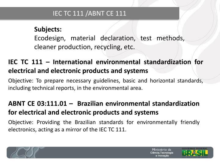 IEC TC 111 /ABNT CE 111