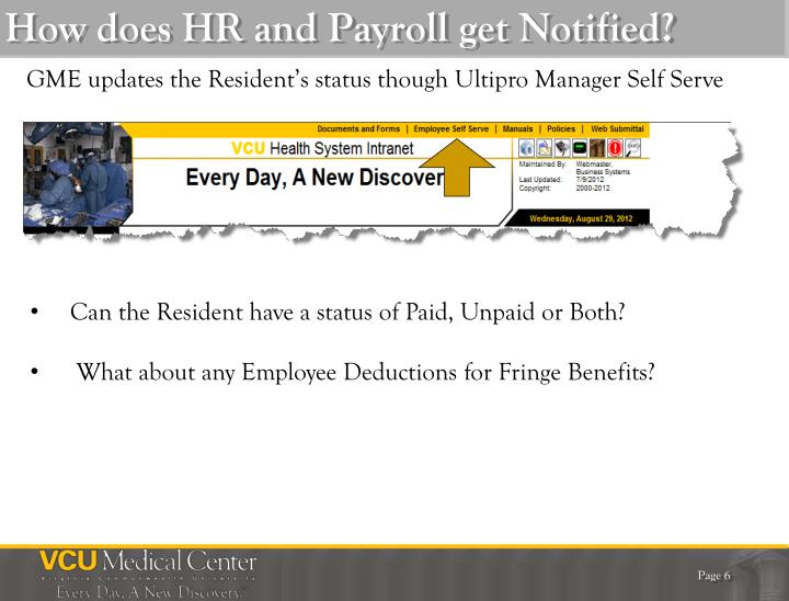How does HR and Payroll get Notified?