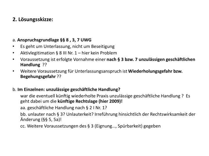 2. Lösungsskizze: