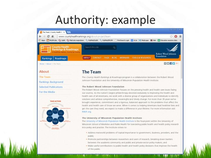 Authority: example