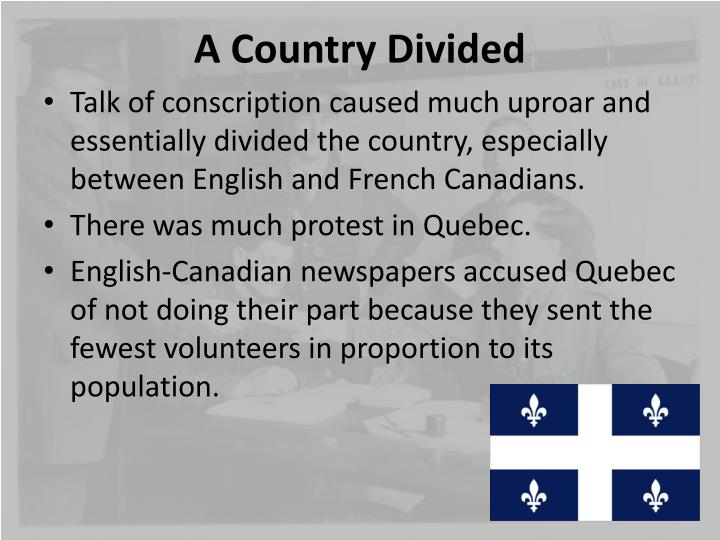 A Country Divided
