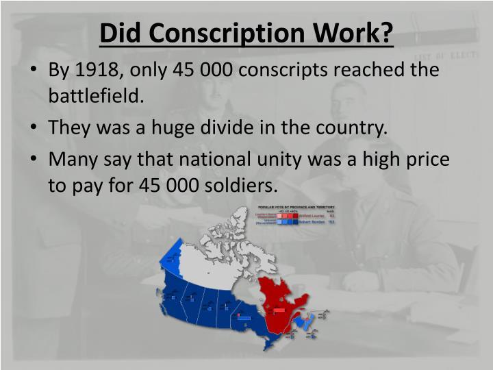 Did Conscription Work?
