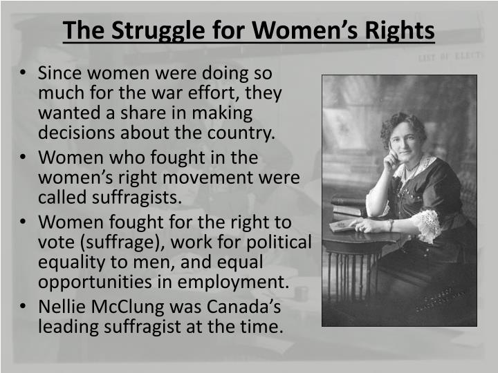 The Struggle for Women's Rights