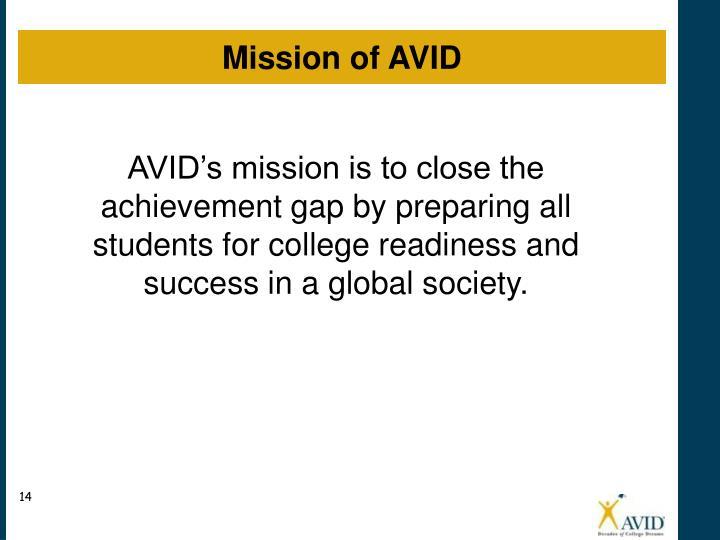 Mission of AVID