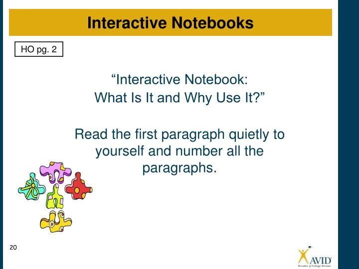 """Interactive Notebook:"