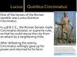 lucius quintius cincinnatus