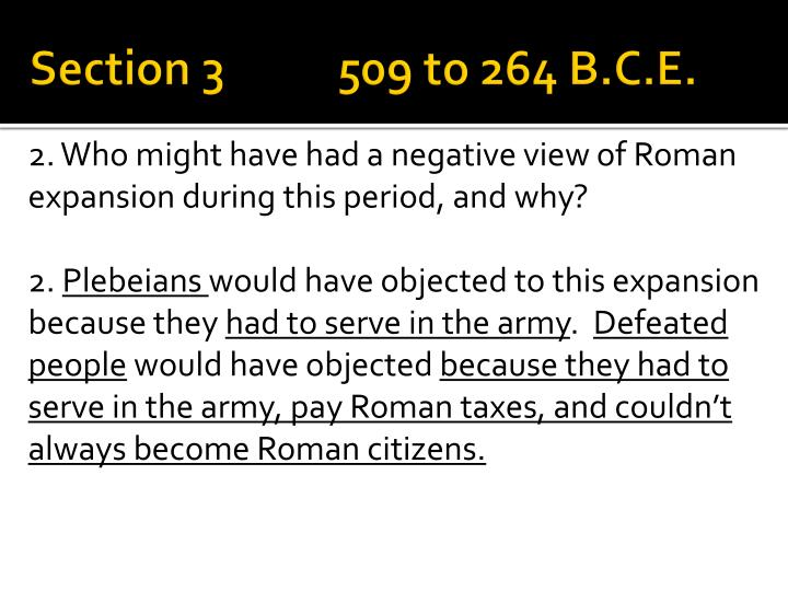 Section 3 509 to 264 B.C.E.