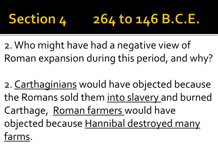 Section 4264 to 146 B.C.E.