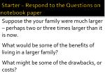starter respond to the questions on notebook paper