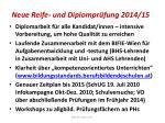 neue reife und diplompr fung 2014 15