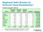 regional safe routes to schools fund distribution