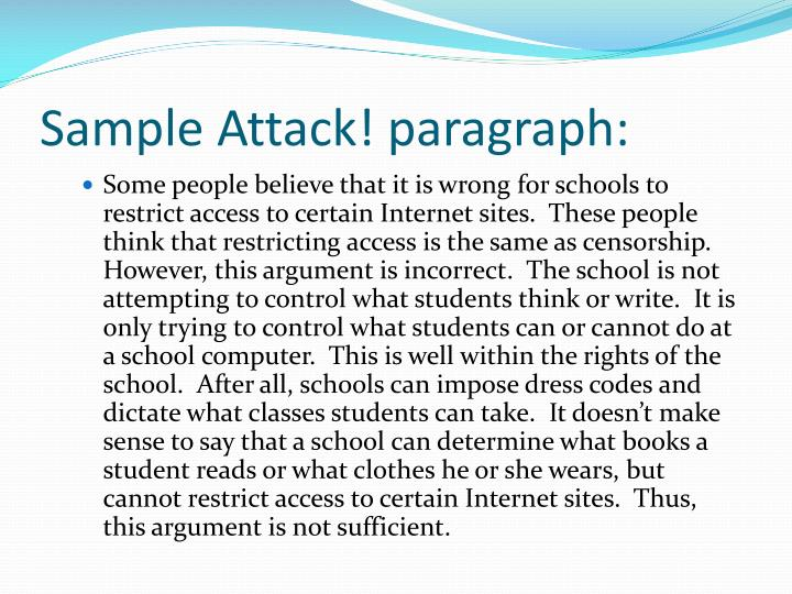 Sample Attack! paragraph: