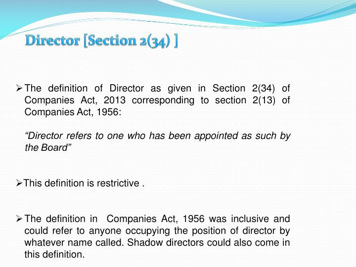 Director [Section 2(34) ]