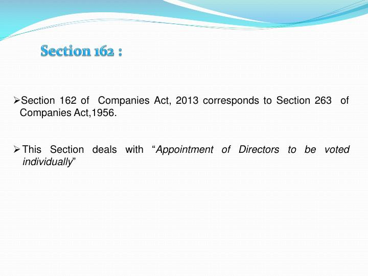 Section 162 :