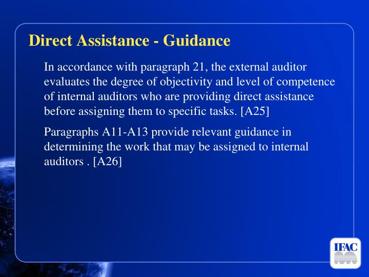 Direct Assistance - Guidance