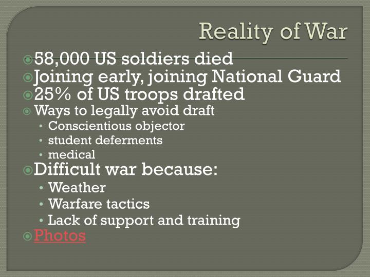 Reality of War