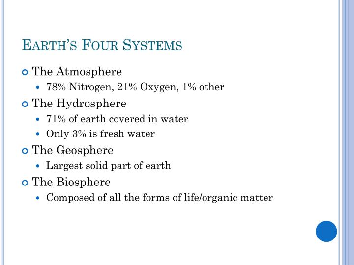 Earth's Four Systems