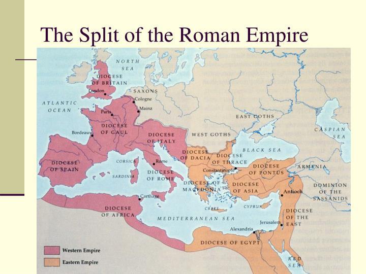 The Split of the Roman Empire