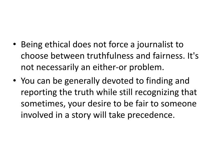 Being ethical does not force