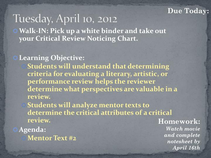 Tuesday, April 10, 2012