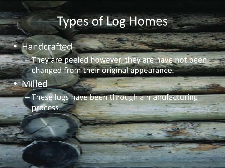 Types of Log Homes