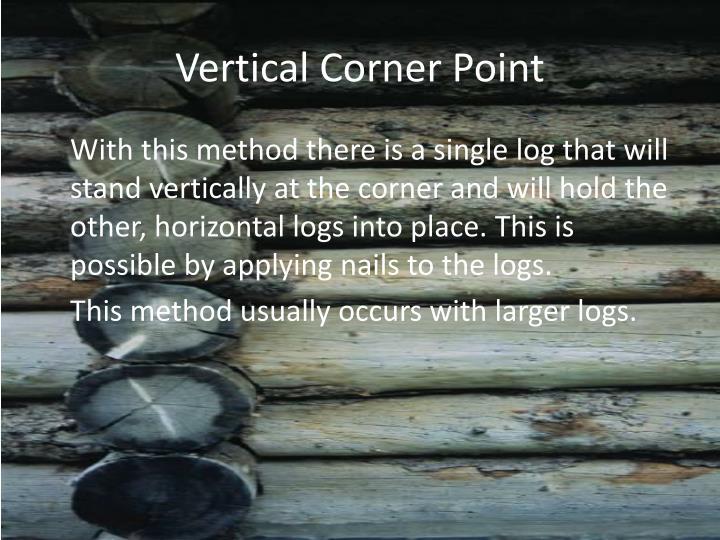 Vertical Corner Point