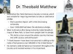 dr theobald matthew
