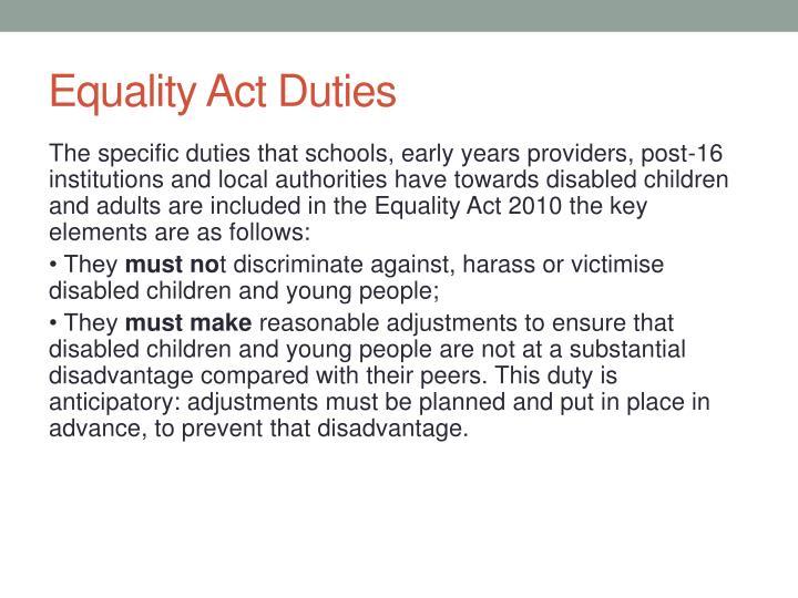 Equality Act Duties