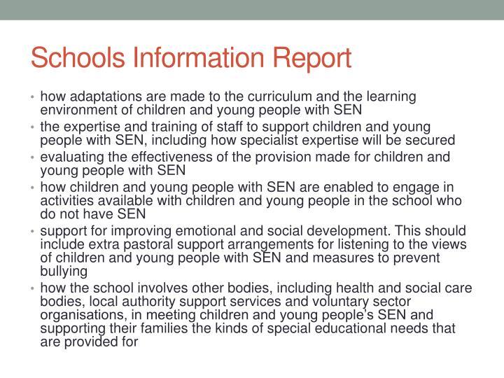 Schools Information Report