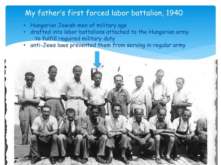 My father's first forced labor battalion, 1940