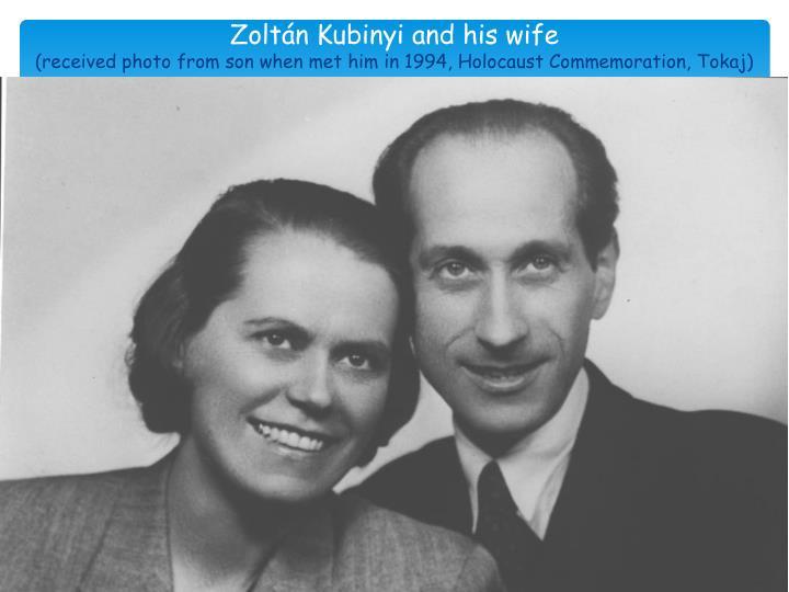 Zoltán Kubinyi and his wife