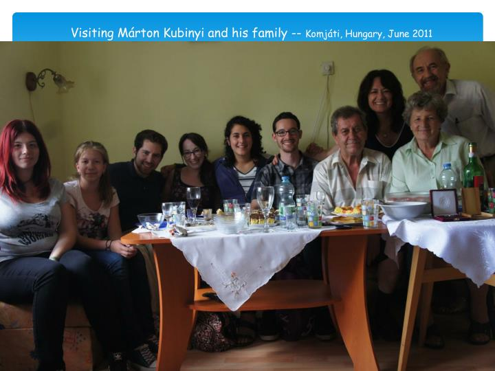 Visiting Márton Kubinyi and his family
