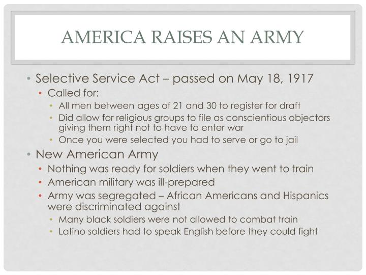 America raises an army