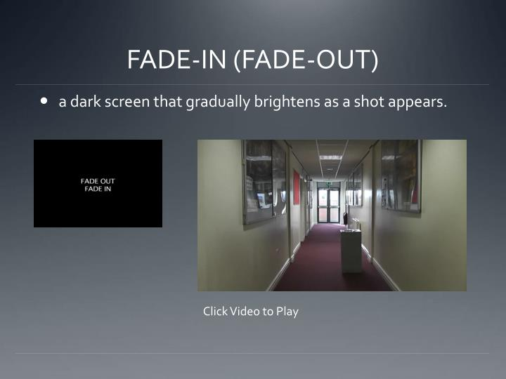 FADE-IN (FADE-OUT)