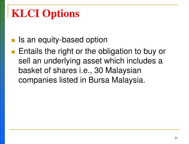 KLCI Options