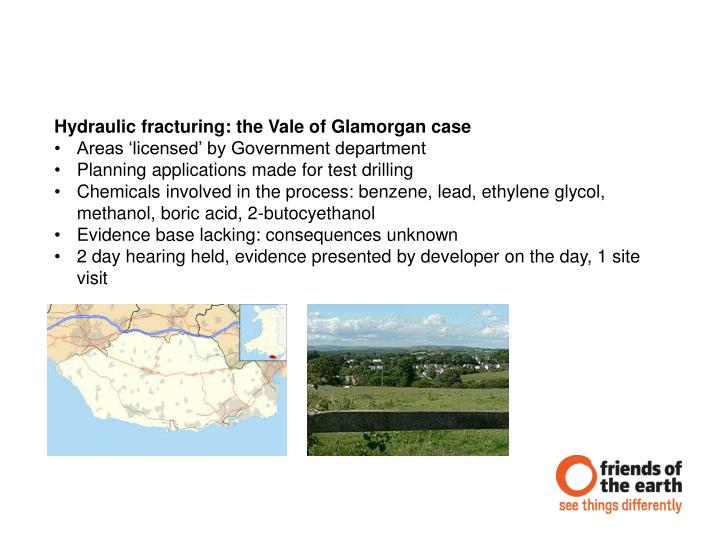 Hydraulic fracturing: the Vale of