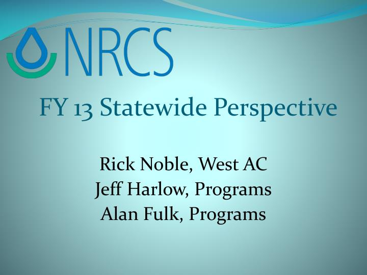 FY 13 Statewide Perspective