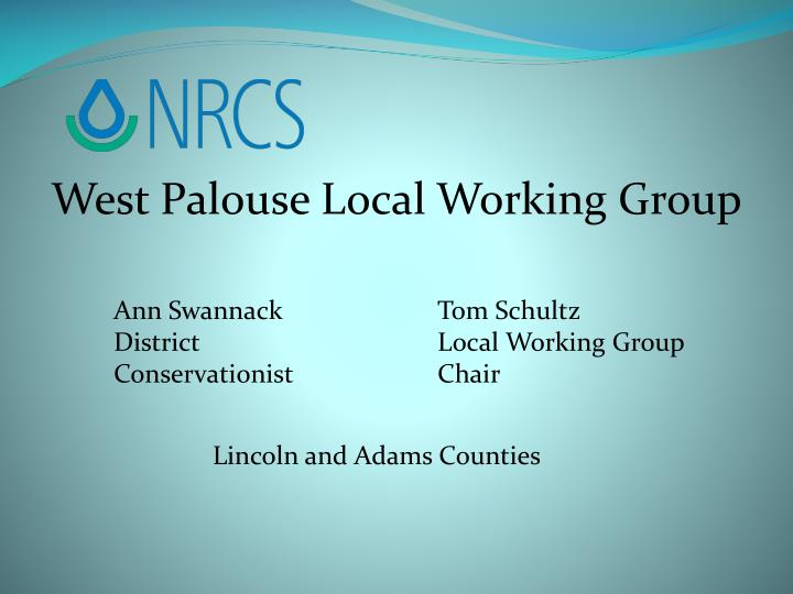 West Palouse Local Working Group