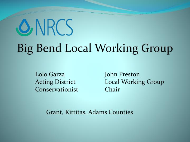 Big Bend Local Working Group