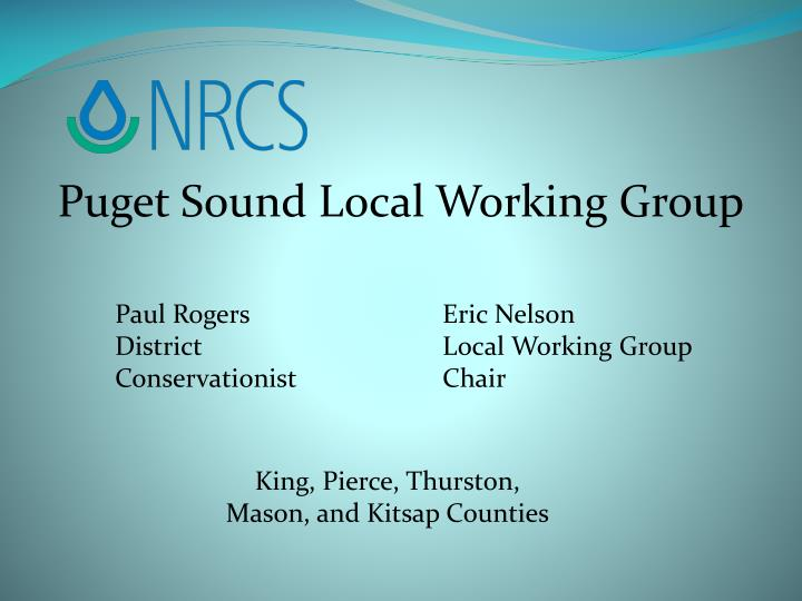Puget Sound Local Working Group