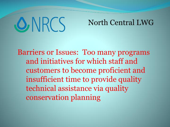 North Central LWG