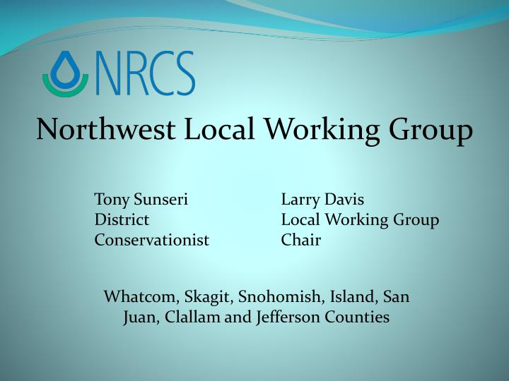 Northwest Local Working Group
