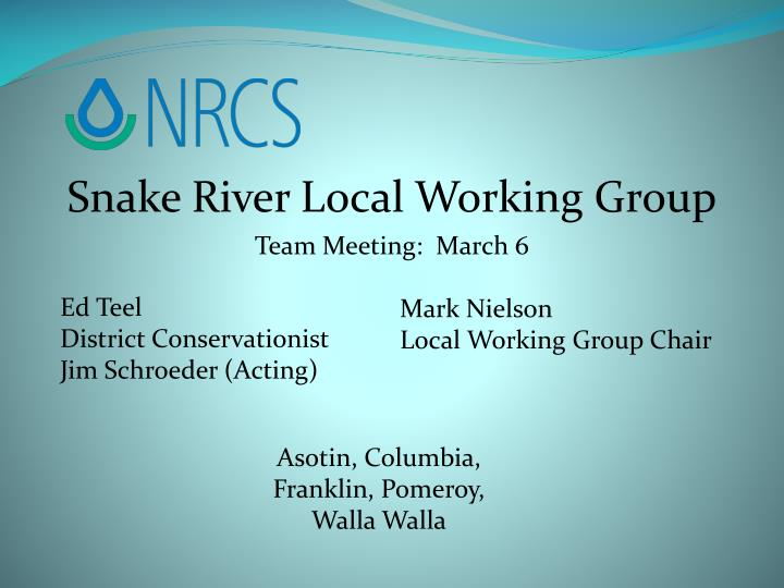 Snake River Local Working Group
