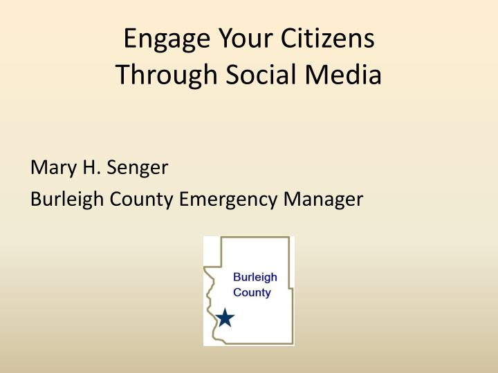 Engage Your Citizens